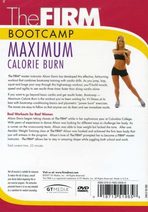 The Firm Boot Camp Maximum Calorie Burn